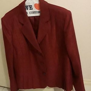 Red suit size 18.
